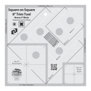 "Creative Grids Square on Square Trim Tool - 4"" or 8"" Finished by Creative Grids Square It Up Rulers - OzQuilts"