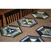 Set of 6 Hexie Placemats Cut Loose Press Pattern by Cut Loose Press Patterns - Cut Loose Press Patterns