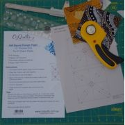 """Half Square Triangle Paper 1¼"""" Finished Size for 5"""" charms by OzQuilts - Pre-printed Triangle Papers"""
