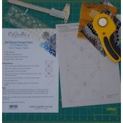 """Half Square Triangle Paper 1½"""" Finished Size for 5"""" charms by OzQuilts - Pre-printed Triangle Papers"""