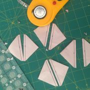 "Half Square Triangle Paper, 2 1/2"" Finished Size by OzQuilts Pre-printed Triangle Papers - OzQuilts"