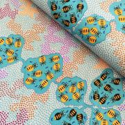 Wild Bush Honey Ants in Mint by Audrey Mortin Napanangka by M & S Textiles - Cut from the Bolt