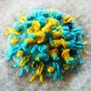 Sue Spargo Eleganza Variegated Perle 3 -  Floating Flower (EZM 16)  by Sue Spargo Eleganza Perle 3 - Sue Spargo Eleganza Perle 3