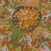 Bush Sweet Potato in Green Australian Aboriginal Art Fabric by Audrey Martin Napanangka by M & S Textiles Cut from the Bolt - OzQuilts