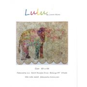 Lulu Elephant Collage Pattern by Fiberworks Collage  - OzQuilts