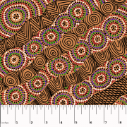 Salt Lake Yellow Australian Aboriginal Art Fabric by Heather Kennedy by M & S Textiles - Cut from the Bolt