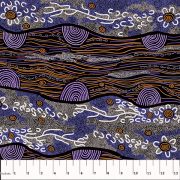 Sandy Creek Purple by Janet Long Nakamarra by M & S Textiles - Cut from the Bolt