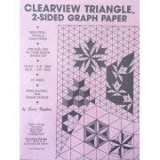 Clearview Triangle 2 sided graph paper by Quilt with Marci Baker - Graph Paper