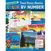 Color by Number Travel Across America Coloring Book by C&T Publishing - Quilt Books