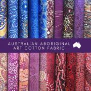 Aboriginal Art Fabric 20 Fat Quarter Bundle D by M & S Textiles - Fat Quarter Packs