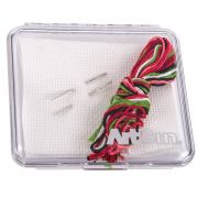 Slimline Clear Square Storage Cases (Set of 2) 10cm x 10.8cm approx by Artbin - Organisers