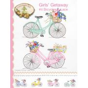 Girls' Getaway 4 Bicycles & Lace Pattern by Crabapple Hill Studio - Embroidery