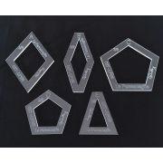 """La Passacaglia Halo Template Set from Millefiori Quilts - 1.5"""" Size by  - Millefiori Book 1"""