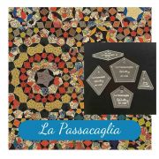 "La Passacaglia Template Set from Millefiori Quilts - Traditional Set in 2"" Size by OzQuilts - Millefiori Book 1"