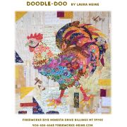 Doodle Doo Rooster Collage Pattern by Fibreworks by Fiberworks Collage  - OzQuilts