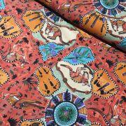 Aboriginal Art Fabric 5 Fat Quarter Bundle - Orange by M & S Textiles - Fat Quarter Packs