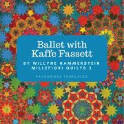 """Ballet with Kaffe Fassett Halo Template Set from Millefiori Quilts 2 - Original Size 1.25"""" by OzQuilts Millefiori Book 2 - OzQuilts"""