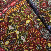 Aboriginal Art Fabric 5 Fat Quarter Bundle - Green & Red by M & S Textiles Fat Quarter Packs - OzQuilts