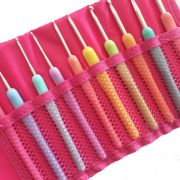 Crochet Hook Set of 10 Hooks in a Storage Case by OzQuilts - Great Gift Ideas