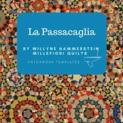 """La Passacaglia Template Set from Millefiori Quilts - Traditional Set in 1.5"""" Size by OzQuilts - Millefiori Book 1"""