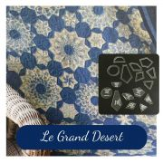 Le Grand Desert Template Set from Millefiori Quilts 3 - Halo Set in Original Size by OzQuilts Millefiori Book 1 & Templates - OzQuilts