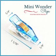 "Mini Quilter's Wonder Clips with 1/8"" nose - 25 Blue Mini Clips by OzQuilts - Wonder Clips & Hem Clips"