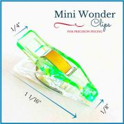 """Mini Quilter's Wonder Clips with 1/8"""" nose - 25 Green Mini Clips by  - Wonder Clips & Hem Clips"""