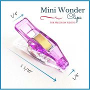 """Mini Sharp Quilter's Wonder Clips with 1/8"""" nose - 25 Purple Mini Clips by OzQuilts - Wonder Clips & Hem Clips"""