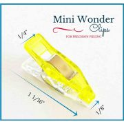 """Mini Quilter's Wonder Clips with 1/8"""" nose - 25 Yellow Mini Clips by  - Wonder Clips & Hem Clips"""