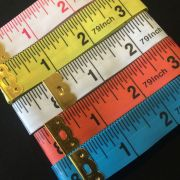 White & Black Tape Measure Extra Long 200cm /79 Inches -Imperial & Metric by OzQuilts Tape Measures - OzQuilts