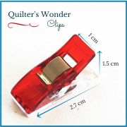 Quilter's Wonder Clips - 25 Red Clips by OzQuilts - Wonder Clips & Hem Clips
