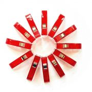 Quilter's Binding Clips -12 Red Clips by OzQuilts - Wonder Clips & Hem Clips