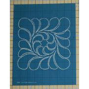Full Line Stencil Feather Block by Hancy Full Line Stencils Pounce Pads & Quilt Stencils - OzQuilts