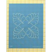 Full Line Stencil Four Corner Feather by Hancy Full Line Stencils Pounce Pads & Quilt Stencils - OzQuilts
