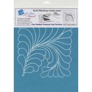 Full Line Stencil Feather Square by Hancy Full Line Stencils Pounce Pads & Quilt Stencils - OzQuilts