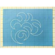 Full Line Stencil Overall Swirl by Hancy Full Line Stencils - Pounce Pads & Quilt Stencils
