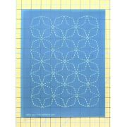 Full Line Stencil Sashiko Stitch Angled 7 Treasures by Hancy Full Line Stencils Pounce Pads & Quilt Stencils - OzQuilts