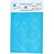 Full Line Stencil Double Oval Diamond Border by Hancy Full Line Stencils - Pounce Pads & Quilt Stencils