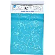 Full Line Stencil Cherry Blossom Swirl by Hancy Full Line Stencils - Pounce Pads & Quilt Stencils
