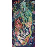 Sirene Mermaid in a Bottle Collage by Fiberworks Collage  - OzQuilts