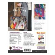 Dancing Diamonds Gem Bag Pattern including interfacing by PlumEasy Patterns - Quiltsmart Kits
