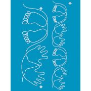 Full Line Stencil Baby Hands And Feet 2-1/4in & 4-1/4in by Hancy Full Line Stencils - Pounce Pads & Quilt Stencils