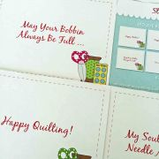 Spoolie Button Set of 8 Note Cards & Envelopes by  Greeting Cards - OzQuilts