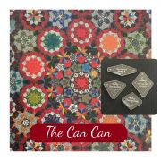 The Can Can Template Set from Millefiori Quilts 3- Traditional Set in Original Size by OzQuilts - Millefiori Book 3