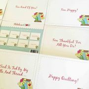 Daisy Spool Set of 8 Note Cards & Envelopes by  Greeting Cards - OzQuilts