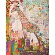 Poki Mini Giraffe Collage by Fiberworks Collage  - OzQuilts