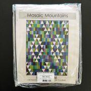 Mosaic Mountains 6.9 yards Kona Cotton Quilt Kit - Cool Colourway by Robert Kaufman Fabrics - Quilt Kits