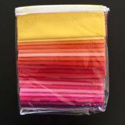 Mosaic Mountains 7.29 yards Kona Cotton Quilt Kit - Warm Colourway by Robert Kaufman Fabrics - Kits