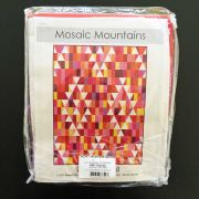 Mosaic Mountains 7.29 yards Kona Cotton Quilt Kit - Warm Colourway by Robert Kaufman Fabrics - Quilt Kits