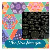 The New Hexagon 34 Piece Template Set by OzQuilts - Custom Quilt Template Sets